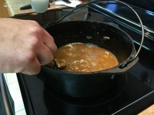evaporating water from the gravy adds body and thickness