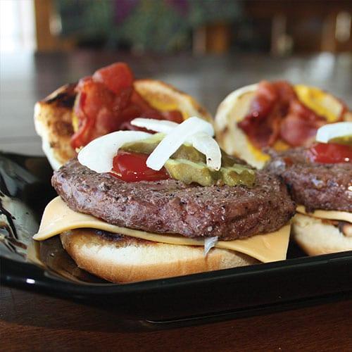 4oz burger line-up