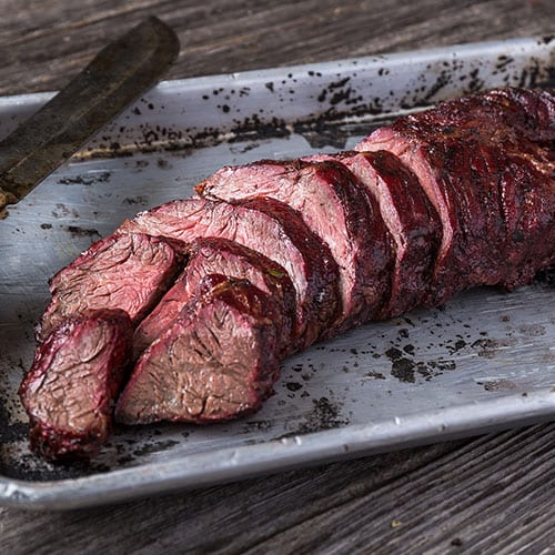 hanger steak sliced
