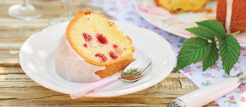 White Chocolate Raspberry Bundt Cake