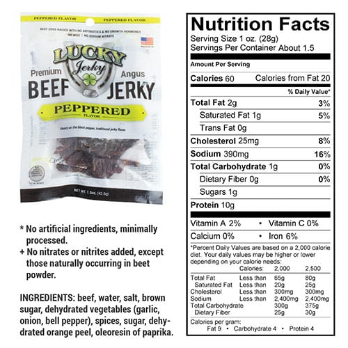 1.5oz peppered nutrition