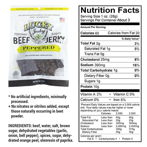 3oz peppered nutrition
