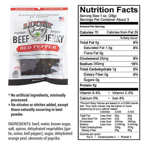 3oz red pepper nutrition