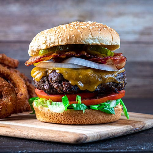 cooked burger