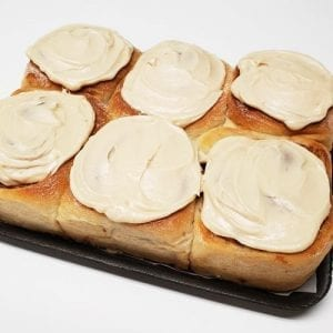 6 maple frosted rolls